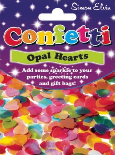 Confetti Sparkling Hearts Table Sprinkles Shower