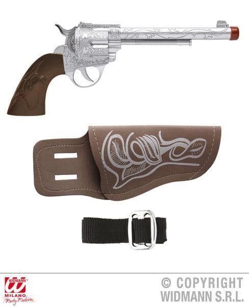 Cowboy Gun W/ Holster&Belt Wild West Usa Rodeo Dallas Farmer Plastic Novelty Toy