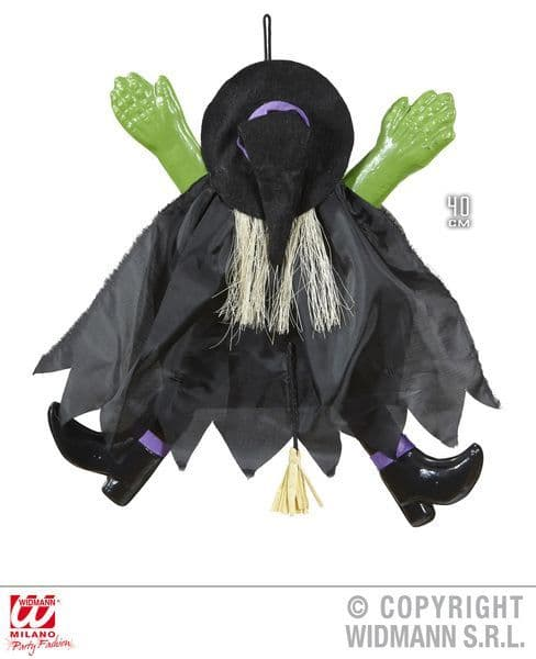 Crashed Witch 40cm Decoration Halloween Wicked Villian Party