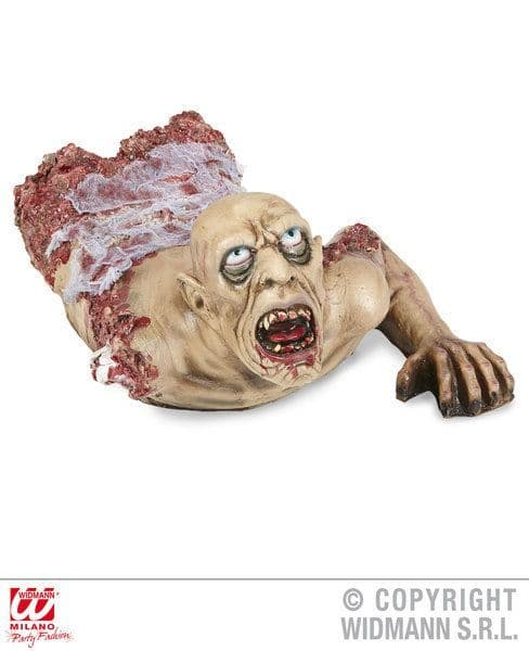 Crawling Zombie Bust W/ Gauze 72cm Prop Halloween Walking Dead Trick Or Treat