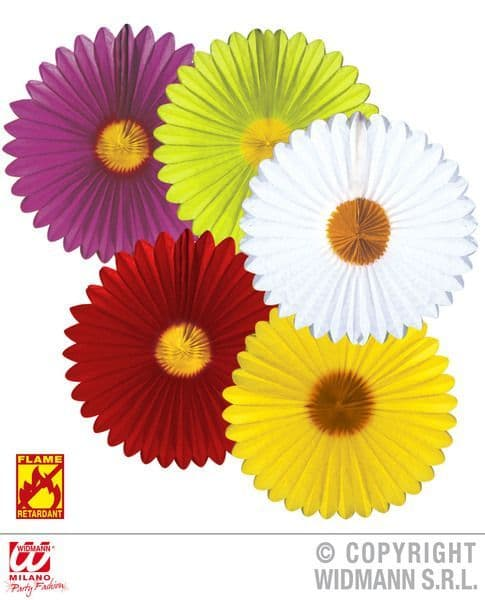Daisy Paper Fans Flame Retardant Fancy Dress