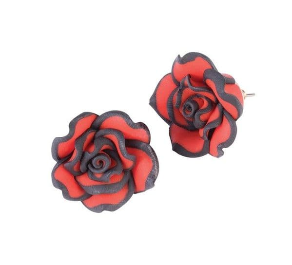 Day of the Dead Rose Earrings Walking Dead halloween Zombie Fancy Dress