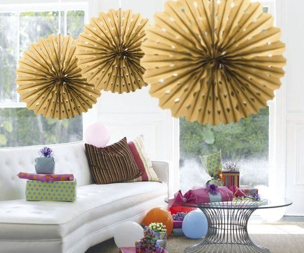 Decoration Honeycomb Fan Garden BBQ Birthday Party Chef Food Outdoor Cook