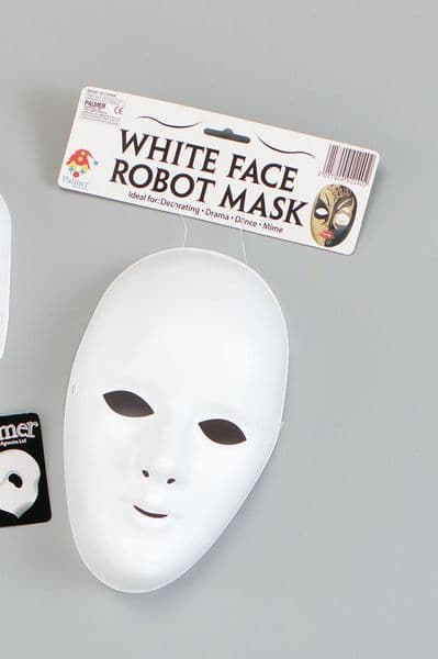 Deluxe Halloween Female Face Mask White Trick Or Treat Fancy Dress
