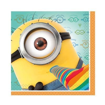 Despicable Me Party Napkins 24cm Pkt 16