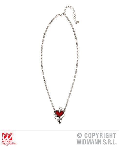 Devilish Red Heart Gem Necklace Love Eros Valentine Romantic