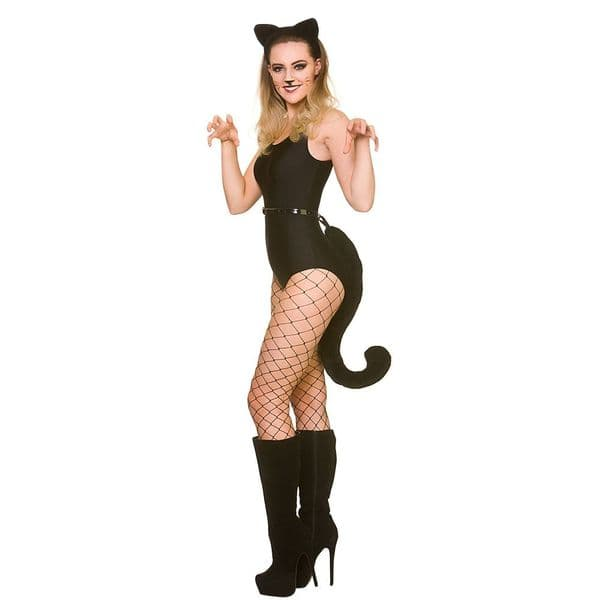 Ears & Giant Tail Halloween Disguise Set for Trick Or Treat Fancy Dress