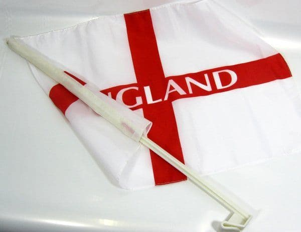 England Car Flags 4 Pack 46cm x 30cm Great Britain Brexit St George