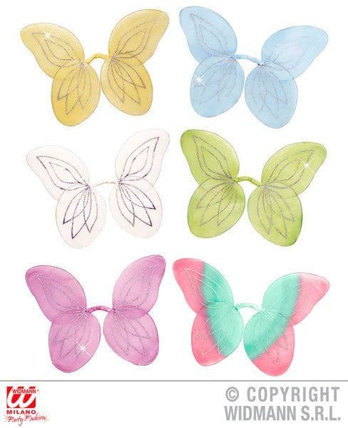Fairy Wings Glitter 47X55cm Approx Tink Pan Fairytale Whisp Fancy Dress