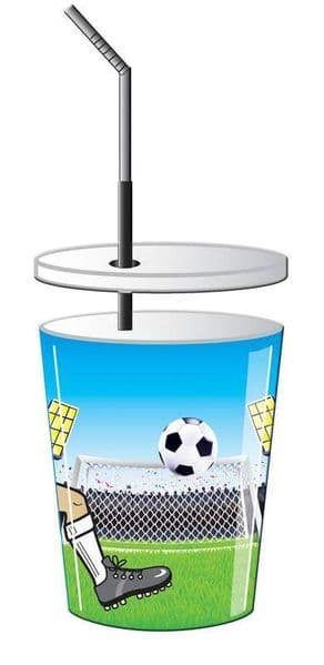 Football Party Cups 4 In Packet Soccer MLS SPL PL World Cup European