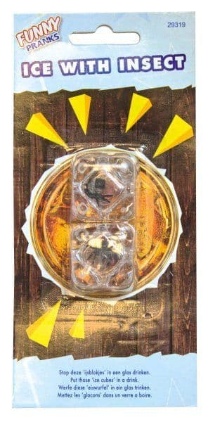 Funny Joke Bug Ice Cube With Insect Gag Trick Novelty