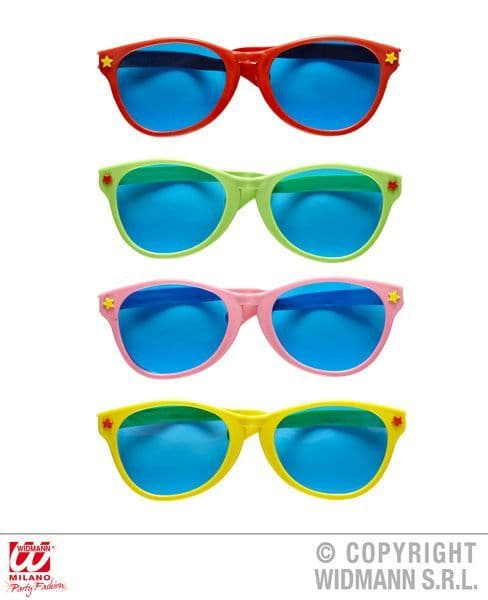 Giant Sunglasses Red Green Pink Yellow Fancy Dress
