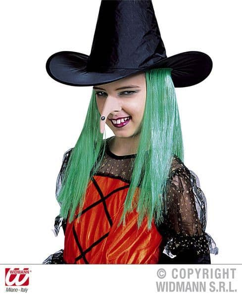 Girls Witch Nose Size Halloween Wicked Villian Fancy Dress