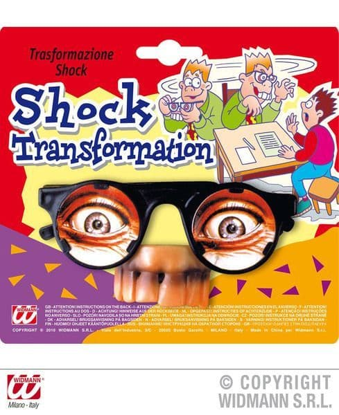 Glasses Shock Transformation Novelty Gag Trick Novelty Toy
