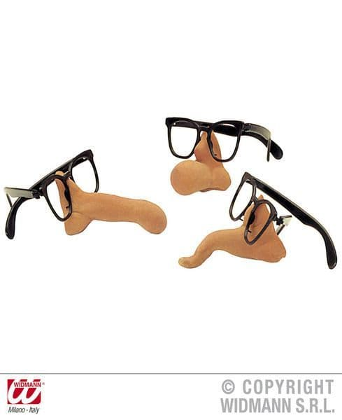 Glasses W/Nose 4 Styles Fancy Dress