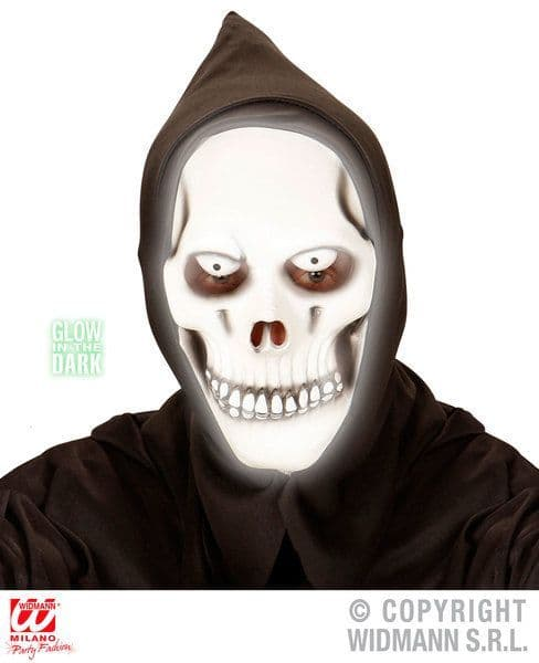 Glow In The Dark Grim Reaper Hooded Mask Glow-Party Night Show Cosmetics