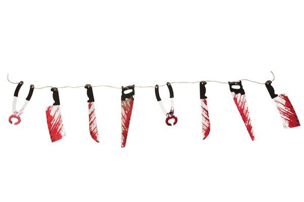 Halloween Bloody Weapon Garland (10pcs) Trick Or Treat Novelty Plastic Toy