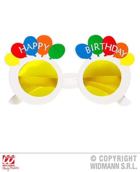 Happy Birthday Balloon Glasses Partyware Party