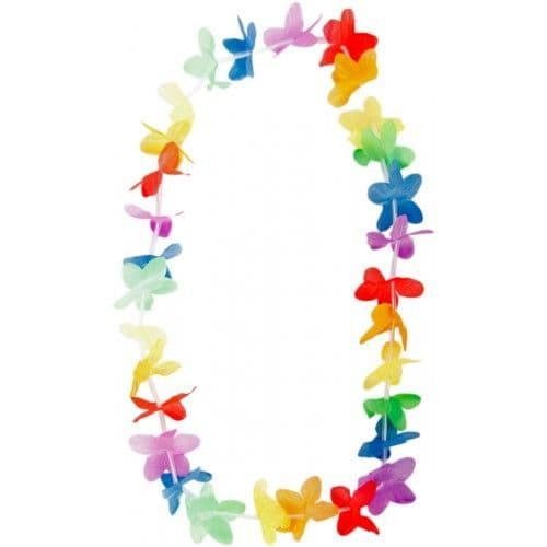 Hawaii Lei Tinsel Mixed Colours for Hawaiian Tropical Beach Fancy Dress