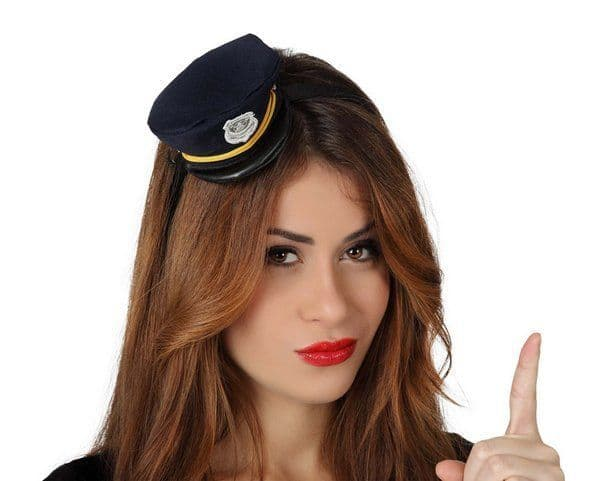 Headband Hat Policewoman Cop Detective Policeman Law Officer