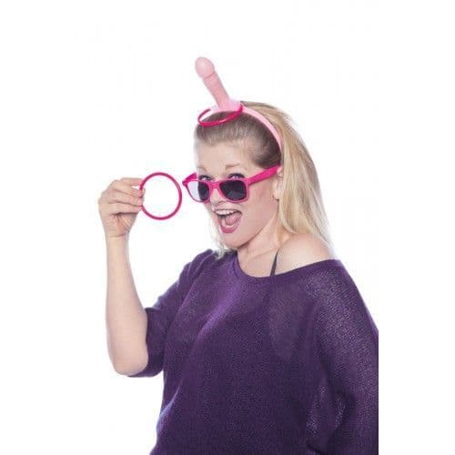 Hen Party Novelty Willy Penis Tiara & throw Rings Bride to Be Gift Fancy Dress