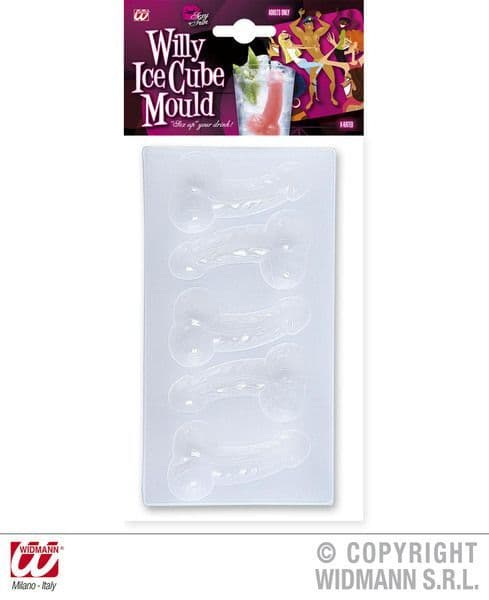 Hen Party Willy Ice Cube Mould Bridal Shower Freedom Party