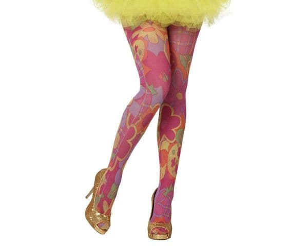 Hold-ups 70s Printed pattern Sexy Erotic Sissy Cosplay