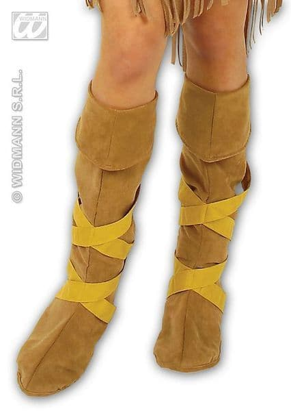 Indian Boot Covers Native Apache Cherokee Navajo Shoshone Ute Fancy Dress