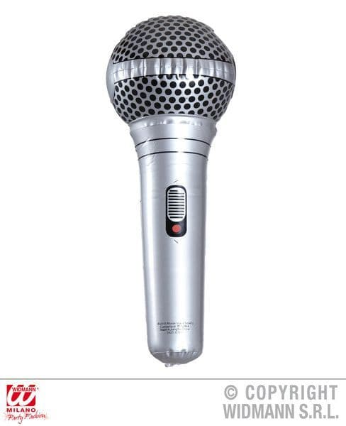 Inflatable Microphone 25cm Blow-Up Karaoke Singer Stage Prop Novelty Swimming