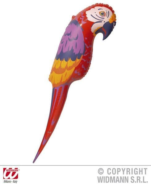 Inflatable Parrot 110cm Blow-Up Paradise Bird Pirate Pet Polly Novelty Swimming