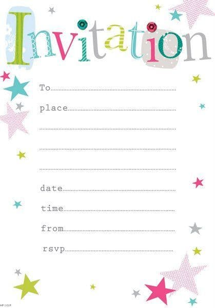 Invitation Party 20 Sheets with Envelope 115