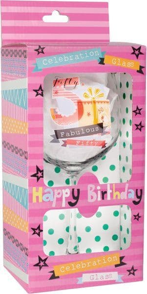 Keepsake Glass Wine for 50TH Birthday 50th