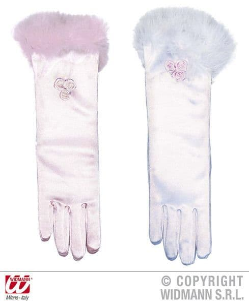 Ladies 50s Gloves Glamour Girl Satin Pink Or White Rockabilly Rock N Roll 50s