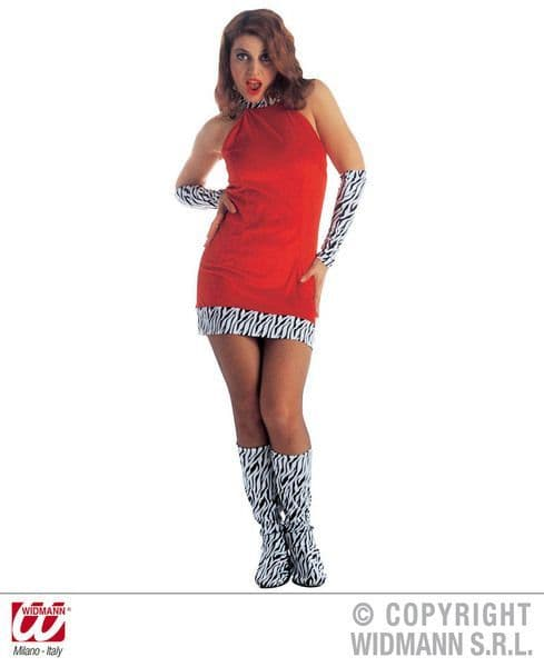 Ladies 60s Go Go Girl Costume Mods Rockers Swinging 60s Fancy Dress Outfit