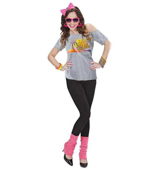 Ladies 80s BEACH GIRL Adult Costume The 80s Fancy Dress