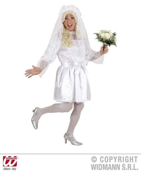 Ladies Drag Male Bride Costume Strip Dancer Sexy Erotic Sissy Fancy Dress Outfit