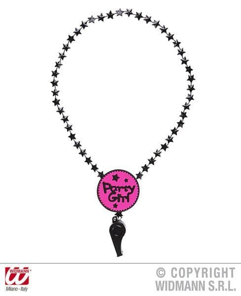 Ladies Party Girl Whistle Necklace