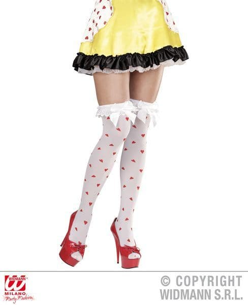 Ladies Queen Of Hearts Over The Knee Socks Royal Ruler Majesty Fancy Dress