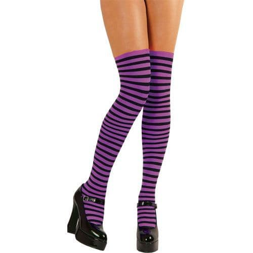 Ladies Thigh High Stockings Womens Sexy Fancy Dress Lingerie