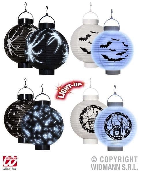 Led Light Halloween Lanterns 4 Styles Decoration Creepy Trick Treat Party