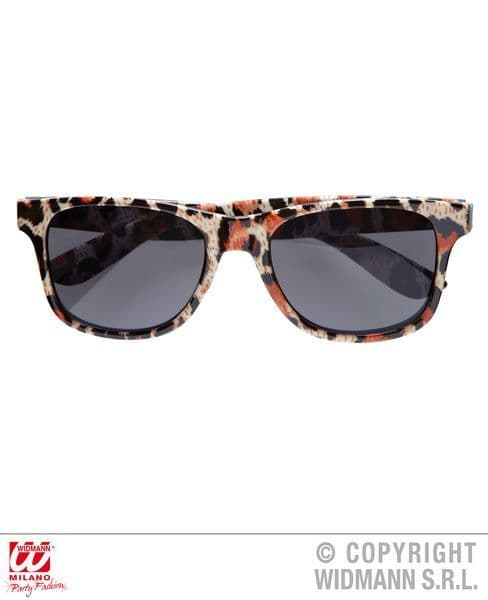 Leopard Glasses Wild Animal Zoo Indian African Big Cat Fancy Dress