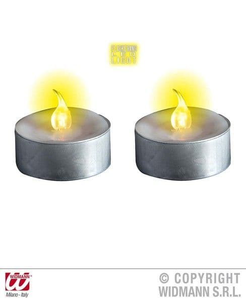 Light Up Tealight Candles White Party Decoration