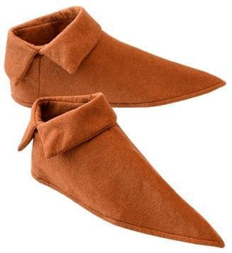 Medieval Shoe Covers - Pair Tudor Buckles Guy Fawkes Fancy Dress