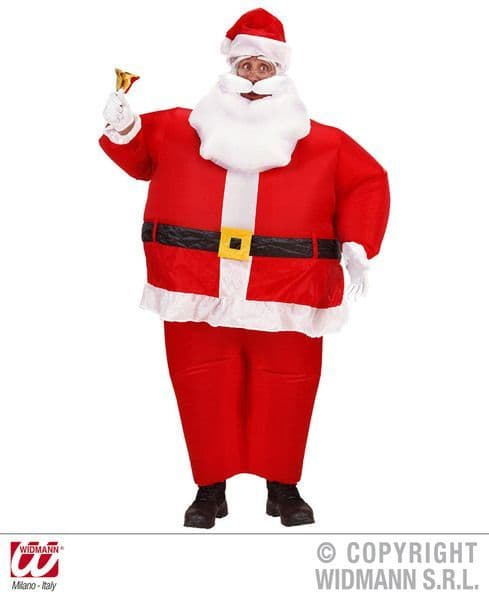 Mens Inflatable Santa Claus Costume Blow-Up Christmas Festive Seasonal Holidays