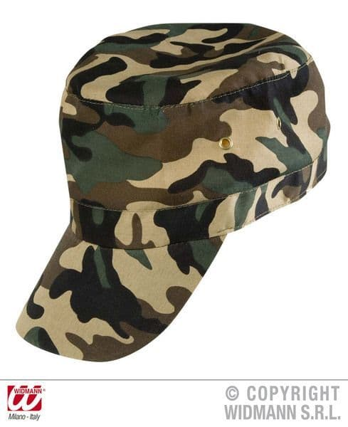 Military Cap Adjustable Hat Army Uniform Military Soldier Fancy Dress
