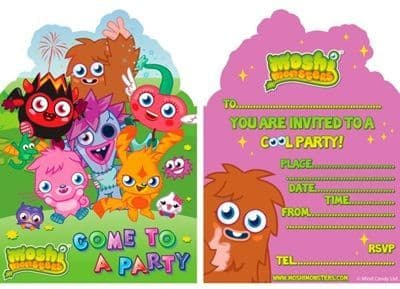 Moshi Monsters Party Invite - 6s