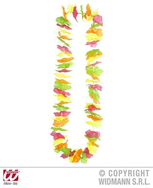 Neon Multicols Hawaiian Leis Hawaii Elvis Magnum Five'O Lua Fancy Dress Party