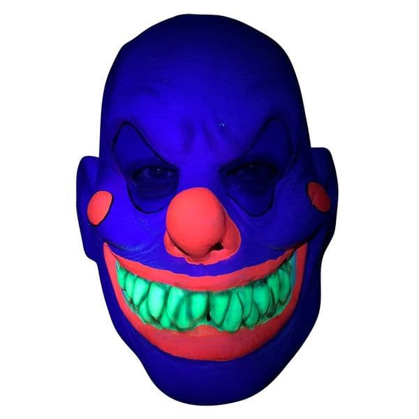 Neon U.V Clown Mask Accessory Fancy Dress