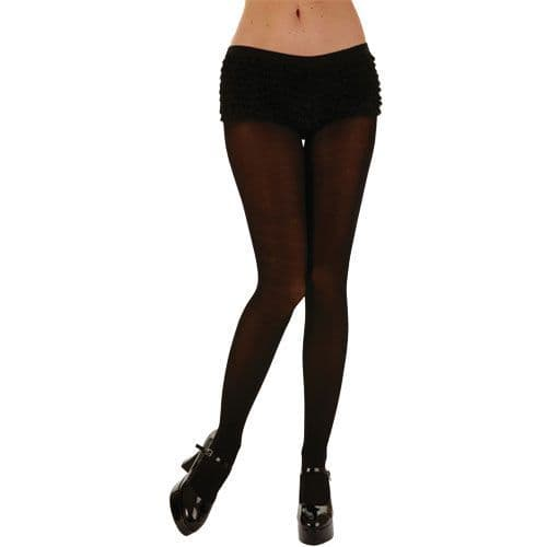 Opaque Tights / White for Sexy Adult Role Play Fancy Dress