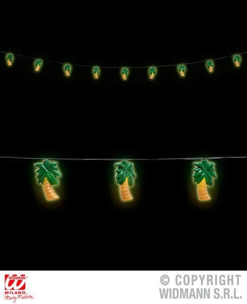 Palm Trees Light Chain Garland Hawaiian Hawaii Tropical Lua Party Decoration